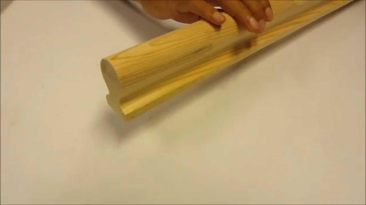 Verwonderlijk Jaren 30 houten rechte trapleuning Productvideo - YouTube FW-56