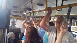 Михаил Саакашвили в Запорожье уехал на автобусе