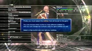 PS3 (Prytemia) FF-XIII - Ark: Özelleştirme Şemaları Öğretici: Oluşturma Sihirbazı Sis Yıldırım Döndürür: