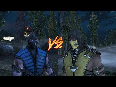Scorpion VS SubZero - Mortal Kombat (GTA 5)