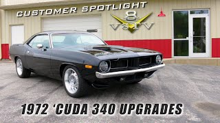 1972 Plymouth Cuda 340 Customer Spotlight Video V8TV V8 Speed & Resto Shop