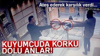Ankara'da Kuyumcunun Silahlı Soyguncuyu Püskürtme Anı Kamerada