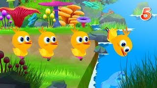 Five Little Ducks | Kids Songs With Lyrics - Cartoons Rhymes & Songs for Childrens