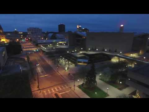 University Of Akron: Downtown Akron Aerial View