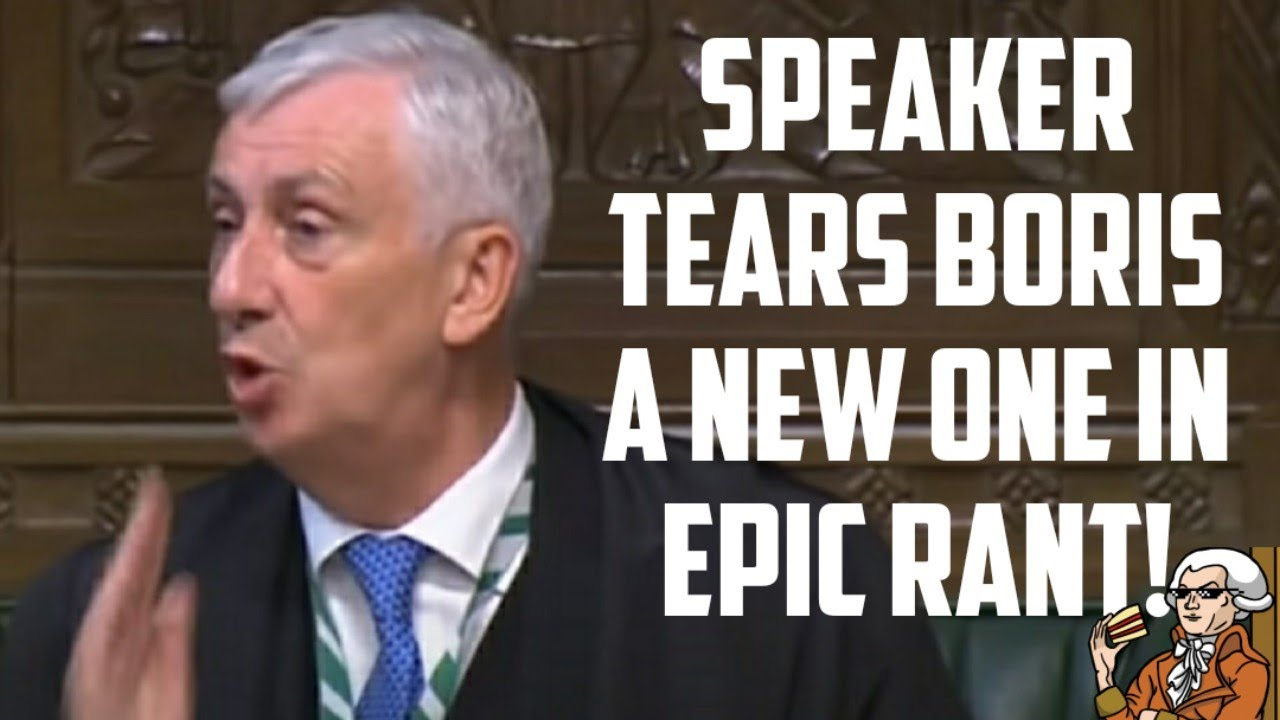 Speaker Of The House Grows A Spine Calls Out Boris Johnson!
