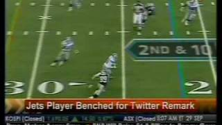 Jets Player Bench For Twitter Remark