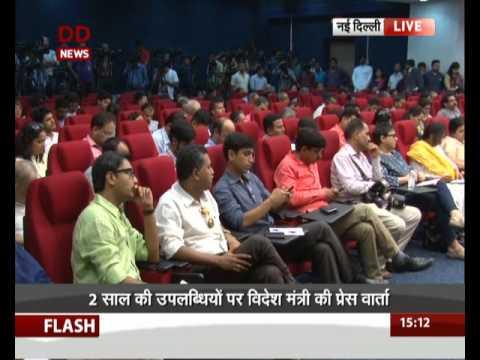 External Affairs Minister Sushma Swaraj Addresses Media (Part -1)