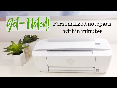 Personalized Notepads Within Minutes - Printing Directions | Get Noted