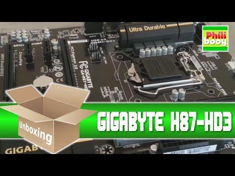 GIGABYTE H87-HD3 unboxing