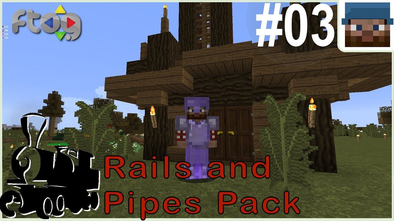 Rails and Pipes Pack #03 - Gimme Da Power! - Minecraft 1 12 2 Let's Play