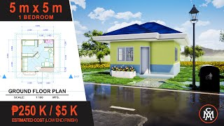 Tiny House Design 5 X 5 M  25 Sq.m.  | House Design #2