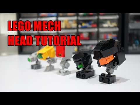 How to build lego mech heads!
