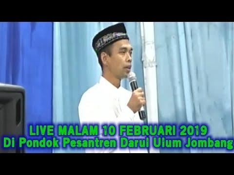 LIVE UAS MALAM HARI INI 10 FEBRUARI 2019! Ustadz Abdul Somad di Pondok Pesantren Darul Ulum Jombang