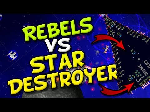 REBELS vs STAR DESTROYER! - Cosmoteer Star Wars & Death Star - Game of Space Battles!