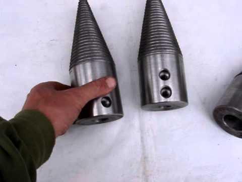 Конус насадка на дровокол диаметр 80мм Ст45