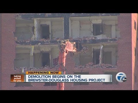 Demolition begins on the Brewster-Douglass Housing Project