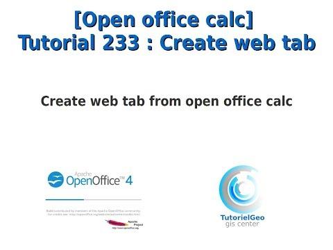 [Open Office Calc] Tutorial 233 : Create Web Tab