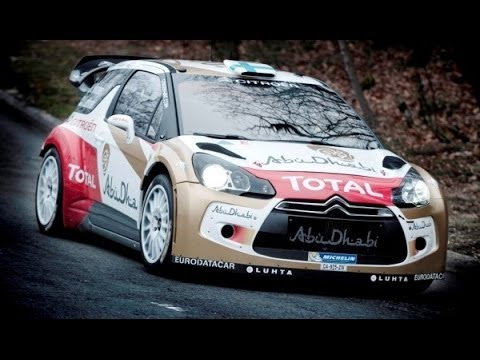HD Citroen DS3 WRC Rally Car Racing 2014 Monte Carlo