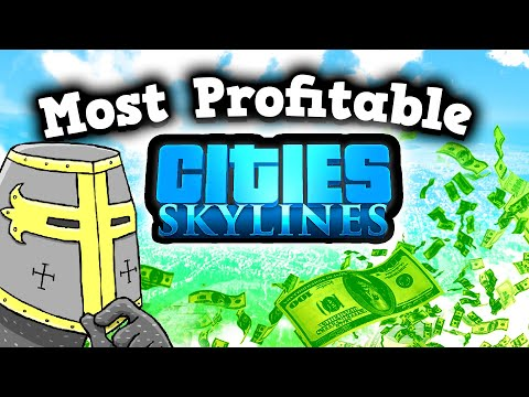 A PROFESSIONAL CITY PLANNER BUILDS THE MOST PROFITABLE CITY In Cities Skylines -  Build Disneyland 2