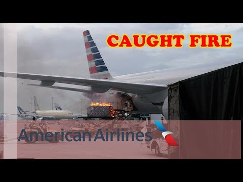 American Airline's Cargo caught Fire at Hong Kong Airport |