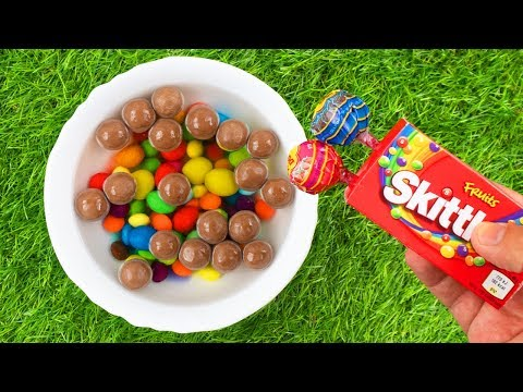 Mixing Candy in Pool with Nursery Rhymes Five Little Monkeys!