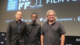 "NYFF51:  ""Captain Phillips"" Press Conference | Tom Hanks, Paul Greengrass, Barkhad Abdi"