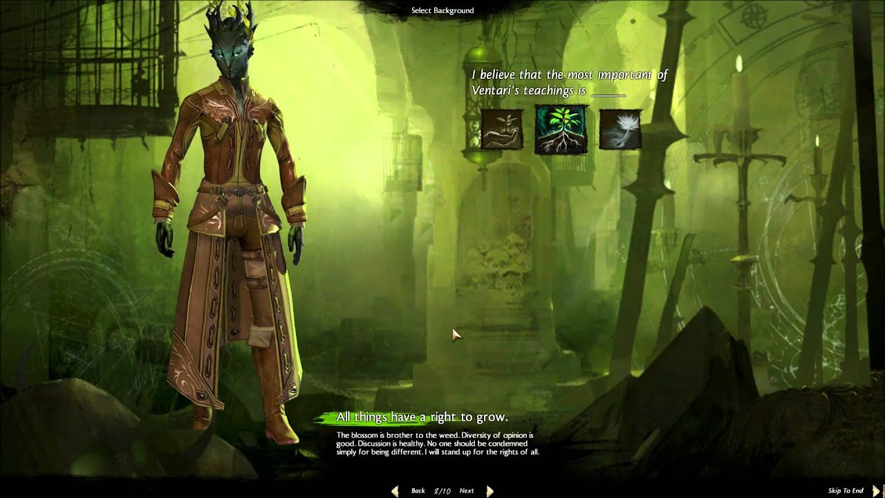 Guild Wars 2 Sylvari Necro Character Creation And Personal Story