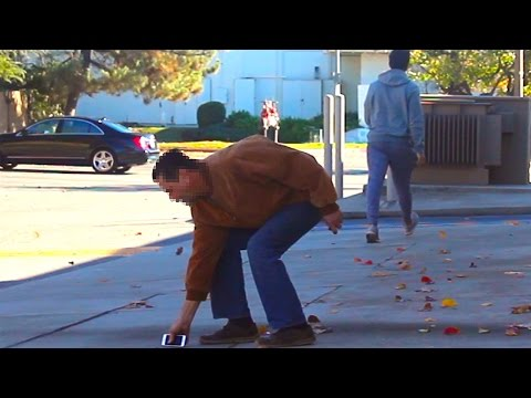 Dropping Phone In Public Social Experiment