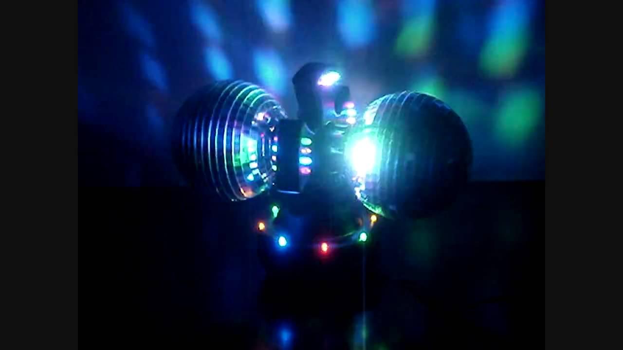 Twin Mirror Disco Ball Light Youtube