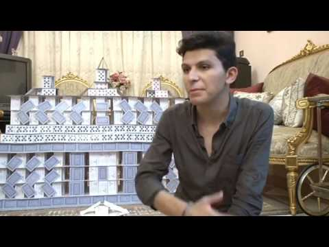 Towering ambition: Egyptian student builds epic monuments out of cards