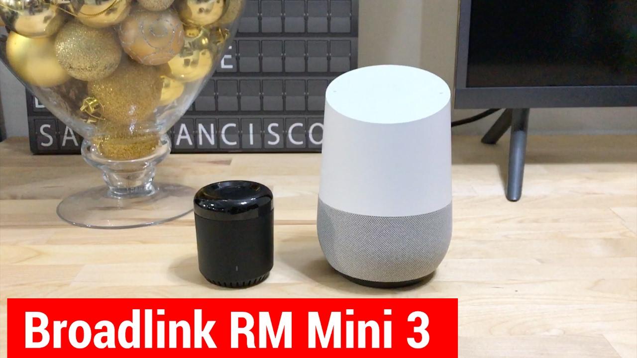 Demo Broadlink RM Mini 3 integration with Google Home via Home Assistant