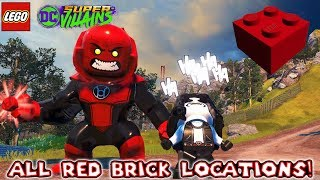 LEGO DC Super Villains - All Red Brick Locations