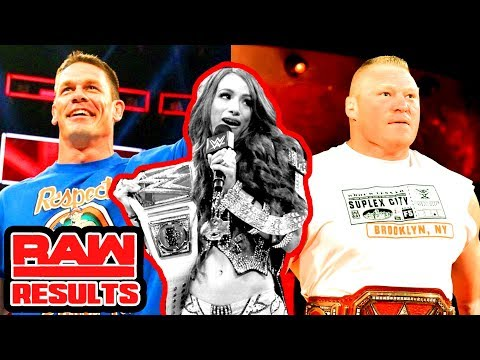 LESNAR VS STROWMAN CONFIRMED! CENA ON RAW! Raw Recap (Going in Raw Podcast Ep. 278)