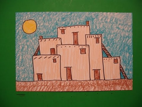 Let 39 s draw a southwest pueblo youtube Draw your house
