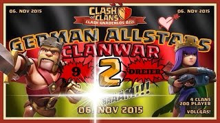Clash Of Clans 9 mal 3 Stars in 2 Clanwars Boooommmmmm