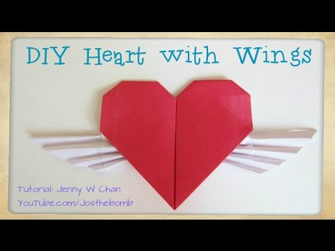 Valentines Day Craft Diy How To Fold A Origami Heart W Wings
