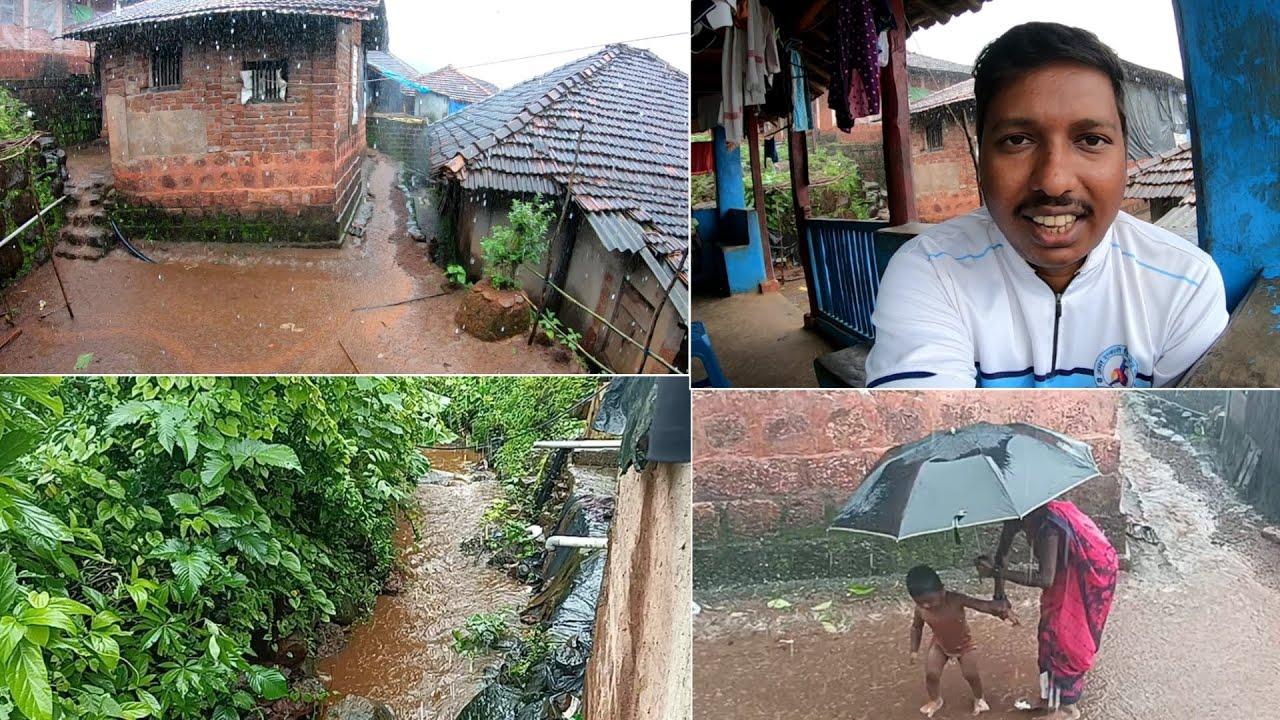 पावसाळ्यातील आमचं घर 😍 | आजूबाजूचा परिसर आणि बरंच काही - Ambavali, Mandangad (Konkan)
