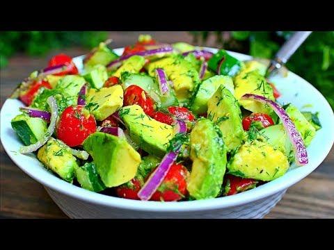 Cucumber Tomato and Avocado Salad Recipe