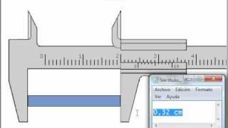 Cómo medir en centímetros con el calibrador Vernier