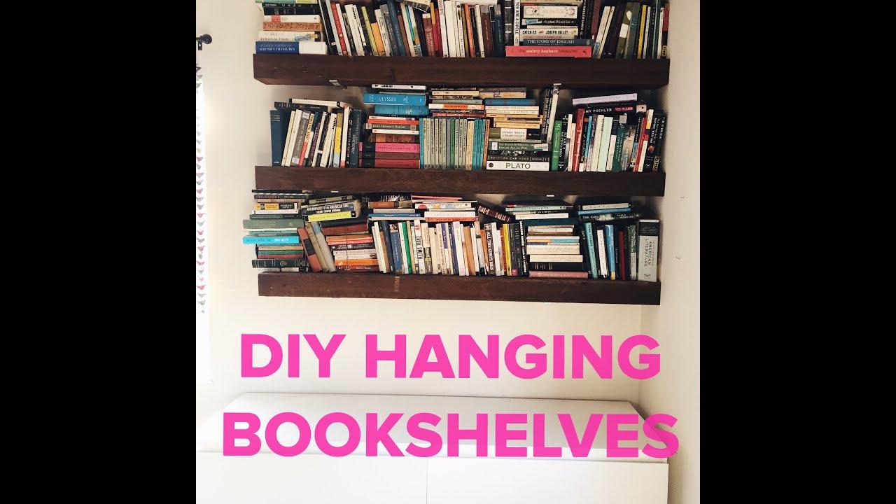 Hanging Book Shelves snapchat diy hanging bookshelves - youtube