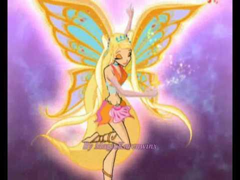 Winx trasformazione Enchantix-Bloom,Stella,Musa e Tecna!