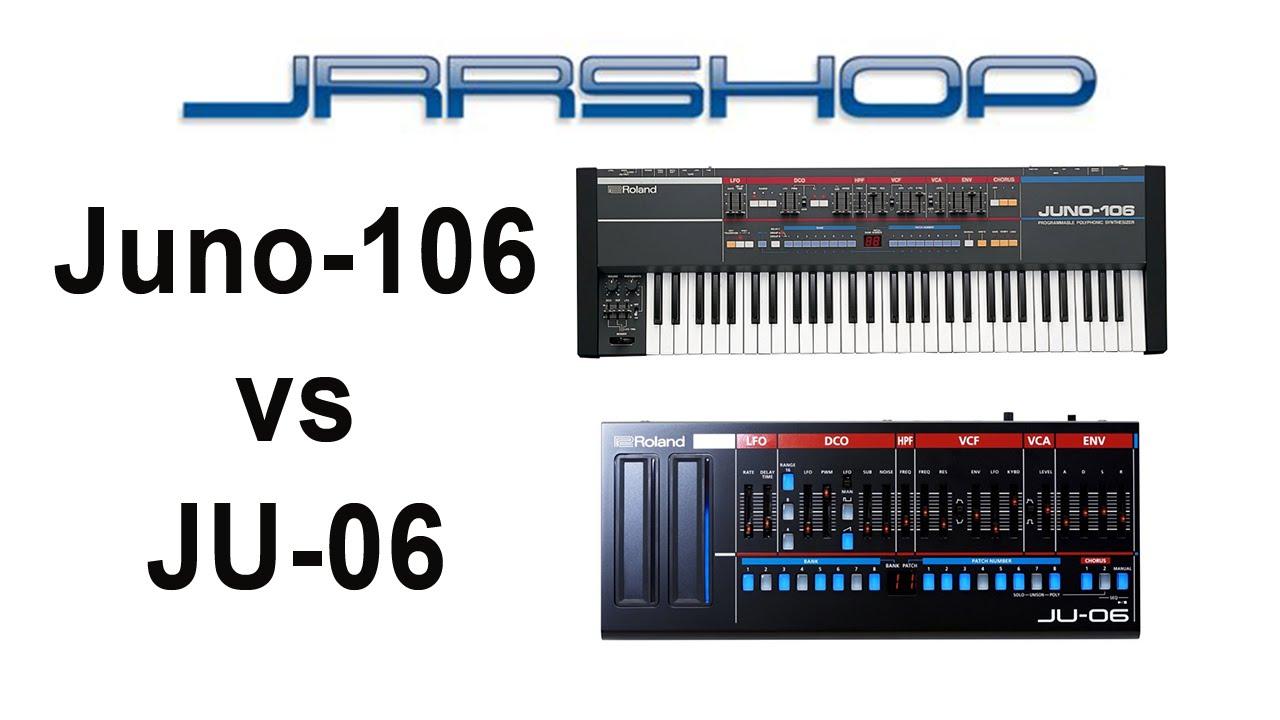 Juno 106 vs JU-06 | Roland Boutique vs the Original | Sound Comparison