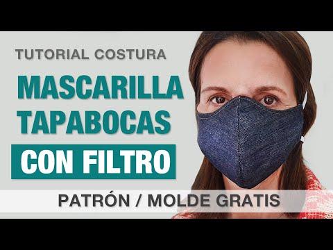 Coser Mascarilla Con FILTRO - Patrón / Molde Gratis - Tutorial Tapabocas / Barbijo Paso A Paso Fácil