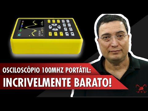 Osciloscópio 100MHz portátil: Incrivelmente barato!
