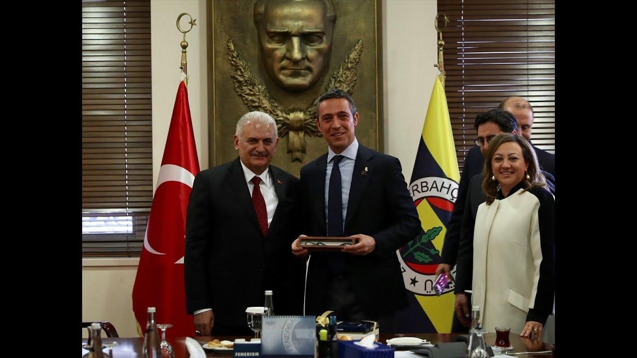 Binali Yıldırım, Fenerbahçe Kulübü Başkanı Ali Koç'u ziyaret etti