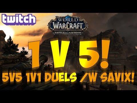 Sensus  WoW BFA Rogue PvP  5v5 1v1 Duels vs SavixXuen! World of Warcraft BFA Dueling PvP