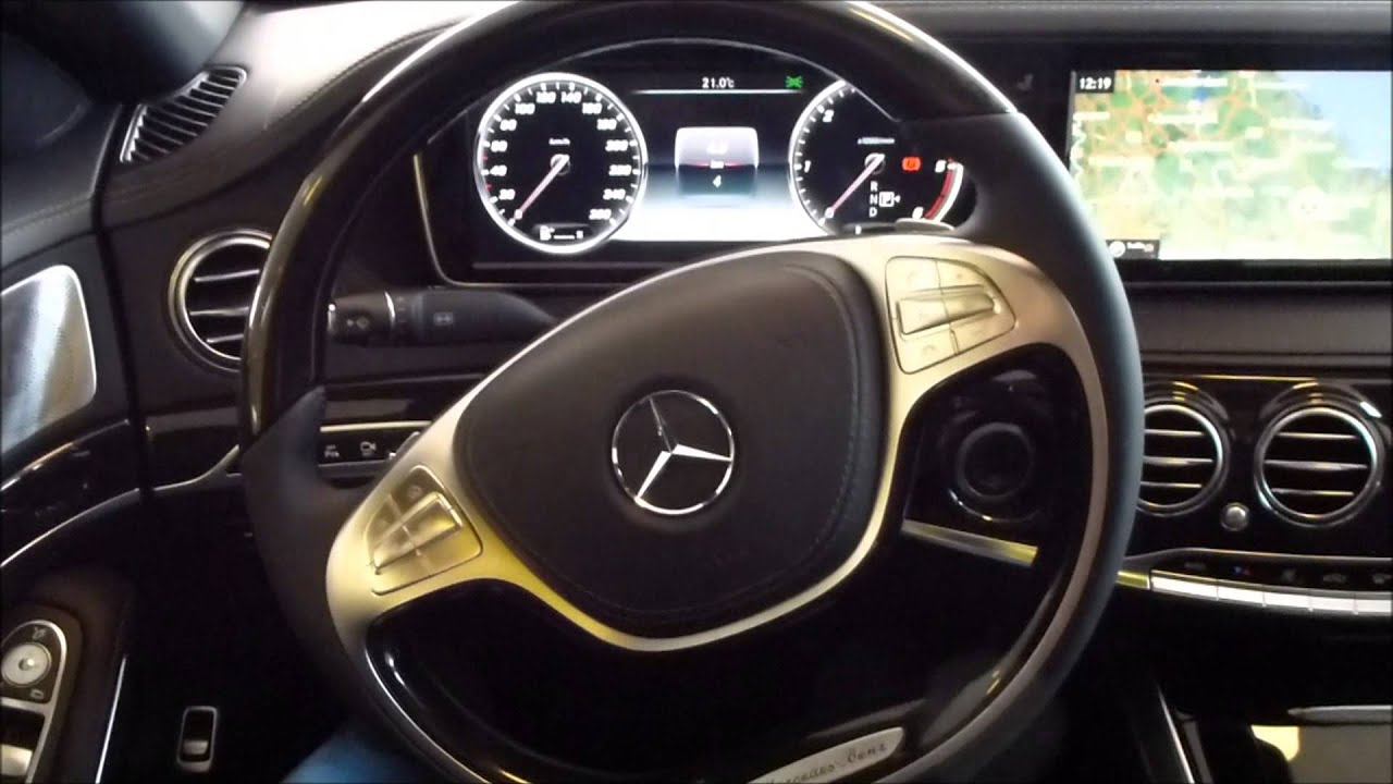 2015 Mercedes S 350 BlueTec Cockpit Head Up Display 30 V6
