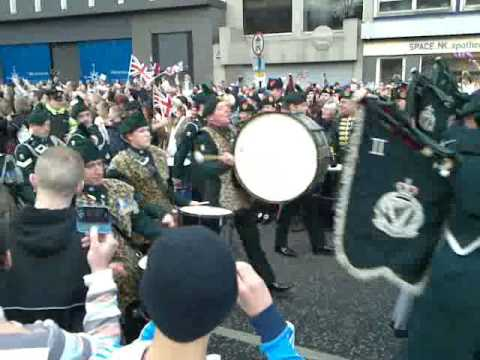 British Army Home-coming Parade (2nd Nov) Belfast
