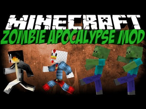 Zombie Apocalypse Mod: Minecraft Better Zombies Mod Showcase!