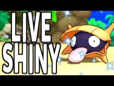 SHINY SHELLDER FINALLY! Pokemon Sun and Moon Shiny Hunting Live Reaction